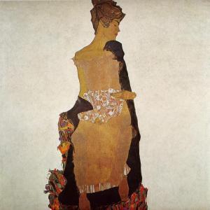 Portrait of Gerti Schiele, 1909, Egon Schiele