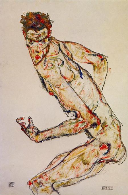Fighter, 1913, Egon Schiele