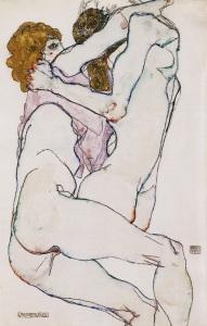 Embrace, 1913, Egon Schiele