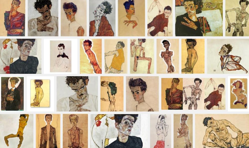 Egon Schiele, autoportraits