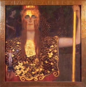 Gustav Klimt, Pallas Athenee, 1898. Huile sur toile  75 x 75 cm. (c) Historisches Museum der Stadt, Vienne